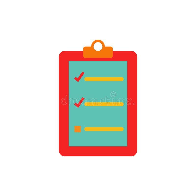 Sprawdza dokumentu loga ikony projekt ilustracja wektor