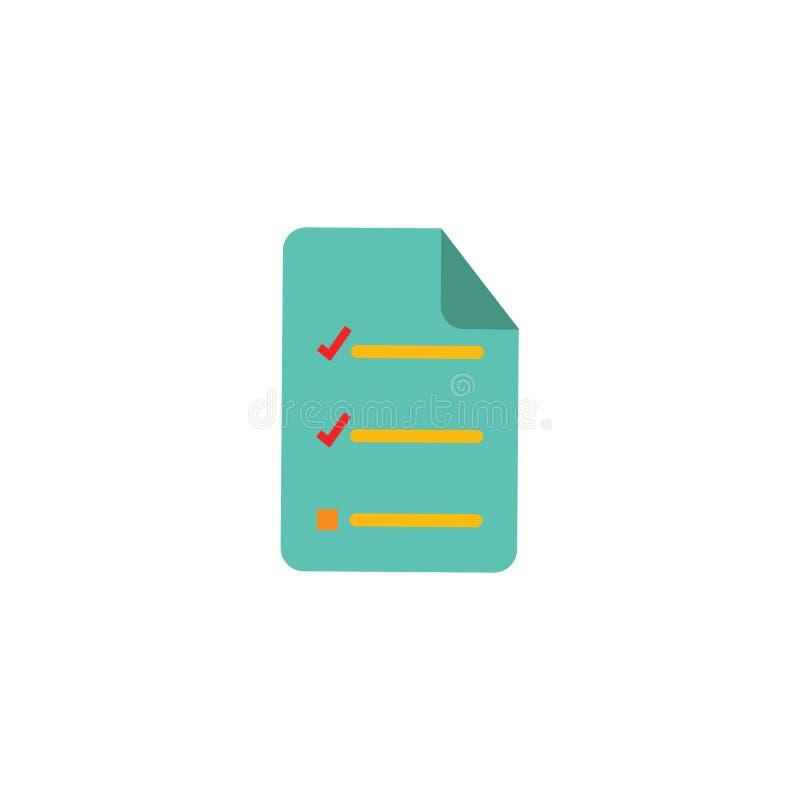 Sprawdza dokumentu loga ikony projekt royalty ilustracja
