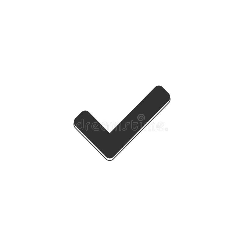 sprawdza? ikon? Zatwierdzony symbol Ok ikona Sprawdza guzika znaka Kleszczowa ikona checkpoint stylowy znak dla mobilnego pojęcia royalty ilustracja