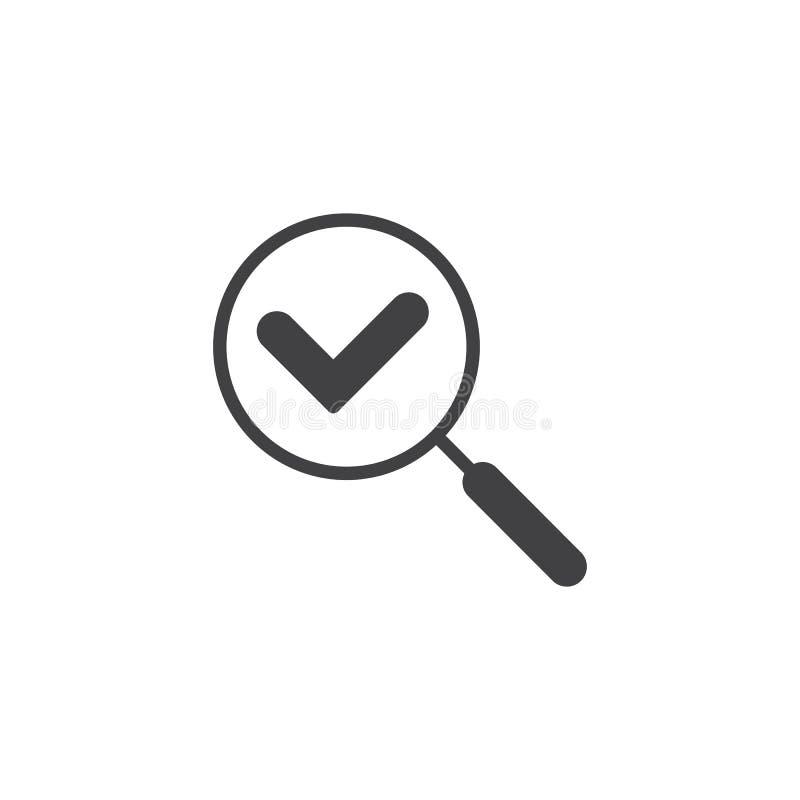 Sprawdza rewizja wektoru ikonę ilustracja wektor