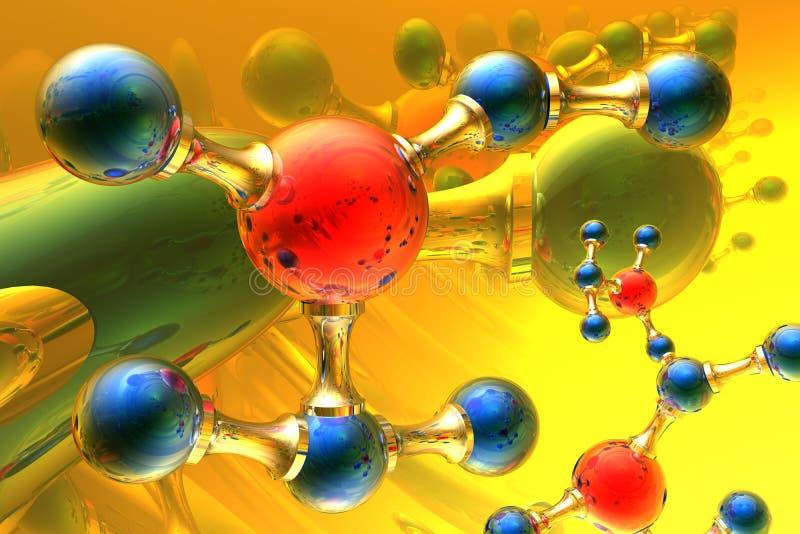 sprawia, że cząsteczki ilustracji
