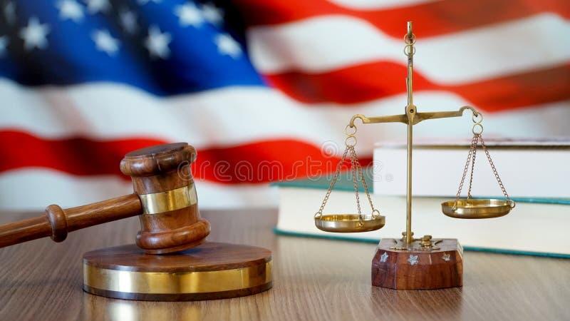 Sprawiedliwość dla Stany Zjednoczone praw w amerykanina sądzie fotografia stock