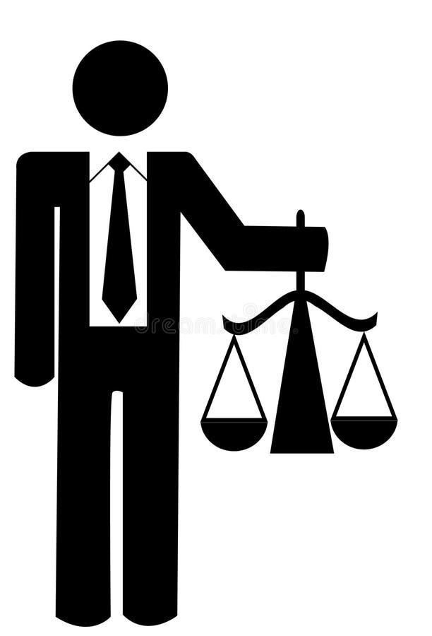 sprawiedliwość jednostek gospodarczych ilustracja wektor