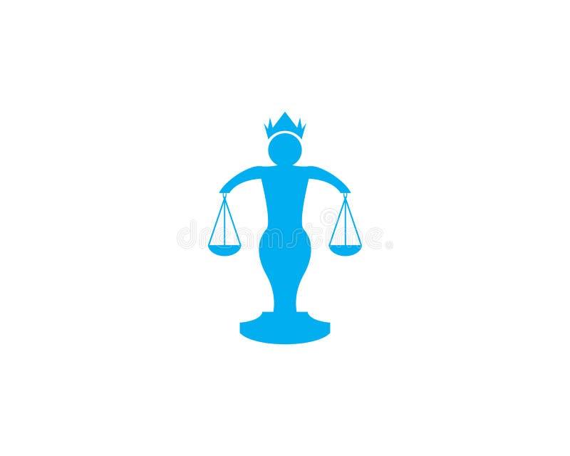 Sprawiedliwość loga projekta wektoru ilustracja ilustracji