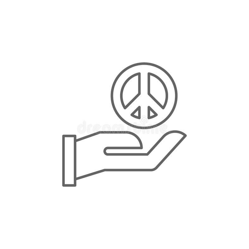 Sprawiedliwość pokoju konturu ikona Elementy prawo ilustracji linii ikona Znaki, symbole i s, mogą używać dla sieci, logo, wisząc royalty ilustracja