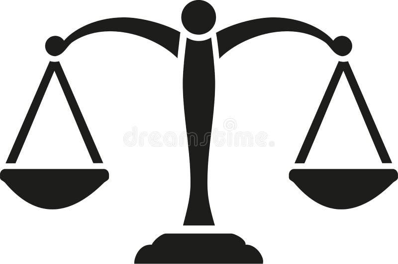 Sprawiedliwość Szalkowy wektor ilustracja wektor