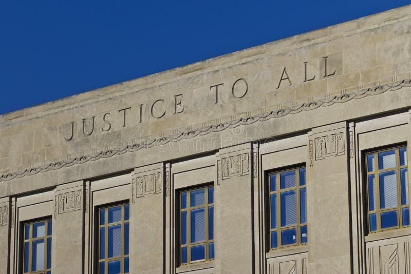 Sprawiedliwość Wszystko obraz stock