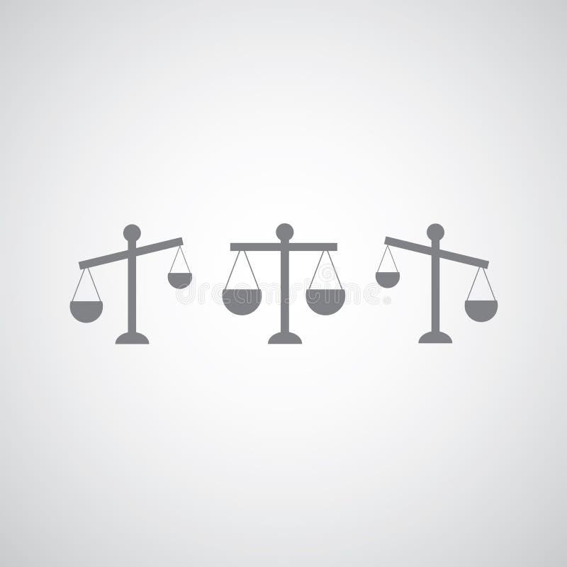 Sprawiedliwości ikona royalty ilustracja