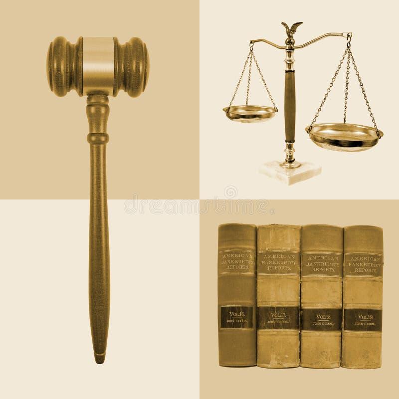 sprawiedliwości legalne prawo kolaż fotografia stock