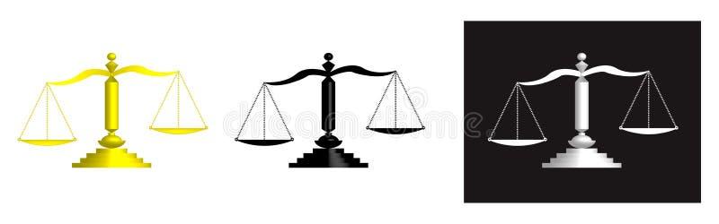 sprawiedliwości skala ilustracja wektor