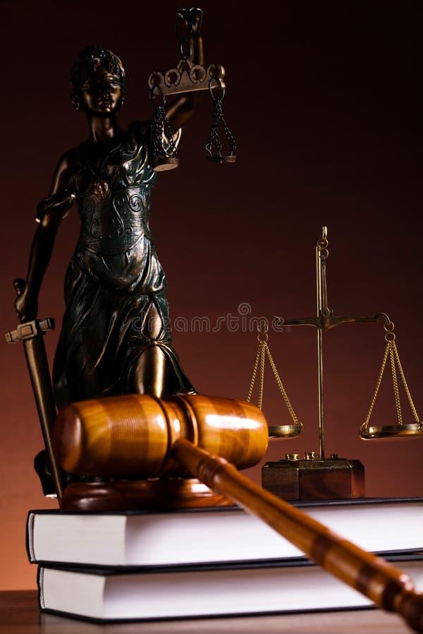 Sprawiedliwości statua, prawo, nastrojowy lekki żywy temat zdjęcie royalty free