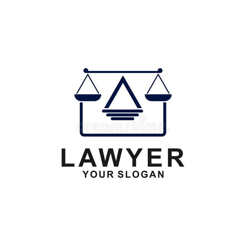 Sprawiedliwo?ci prawa loga projekta szablon adwokata logo z filarem i gwiazdow? kszta?t ilustracj? ilustracja wektor