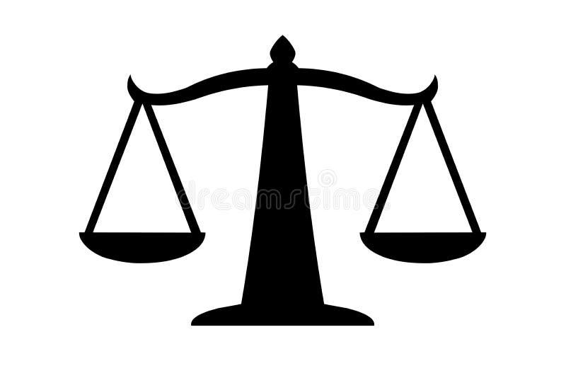 Sprawiedliwo?? wa?y ikon? Prawo balansowy symbol r?wnie? zwr?ci? corel ilustracji wektora royalty ilustracja