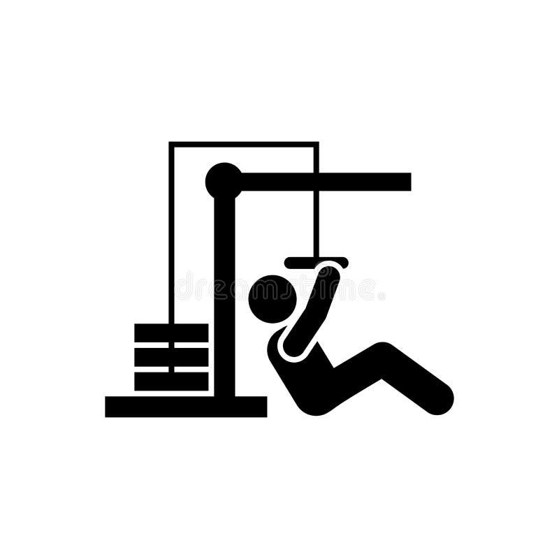 Sprawność fizyczna, ćwiczenie, mężczyzna, ciężar, mięsień ikona Element gym piktogram Premii ilo?ci graficznego projekta ikona po ilustracja wektor