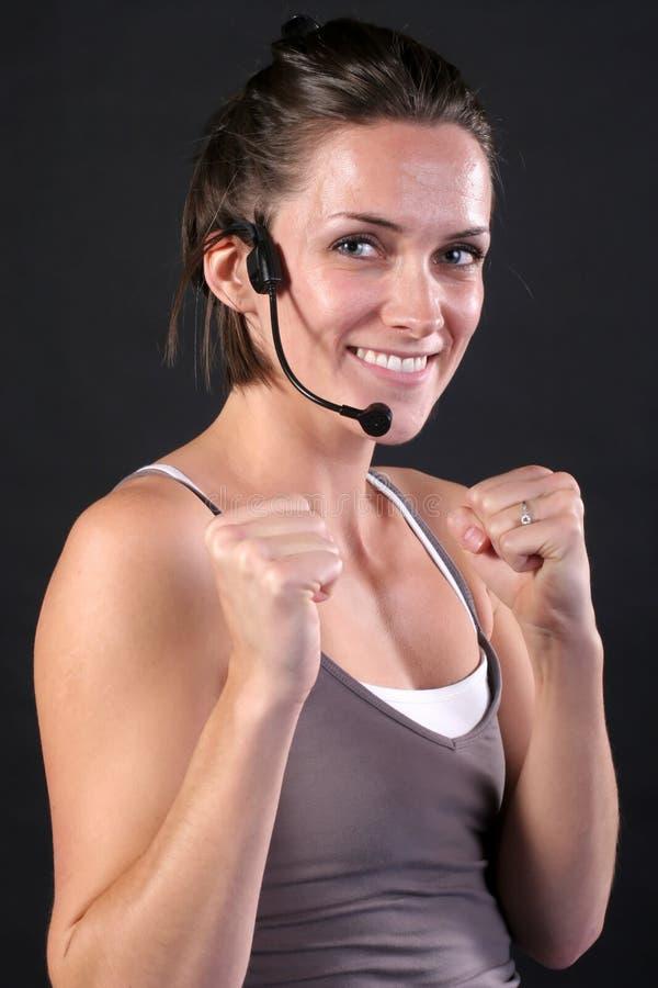 sprawność fizyczna (1) instruktor zdjęcie stock