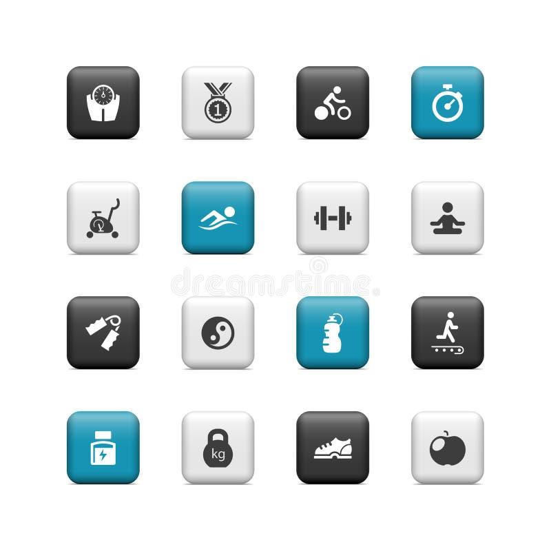 Download Sprawność fizyczna guziki ilustracja wektor. Ilustracja złożonej z lifestyles - 28970423