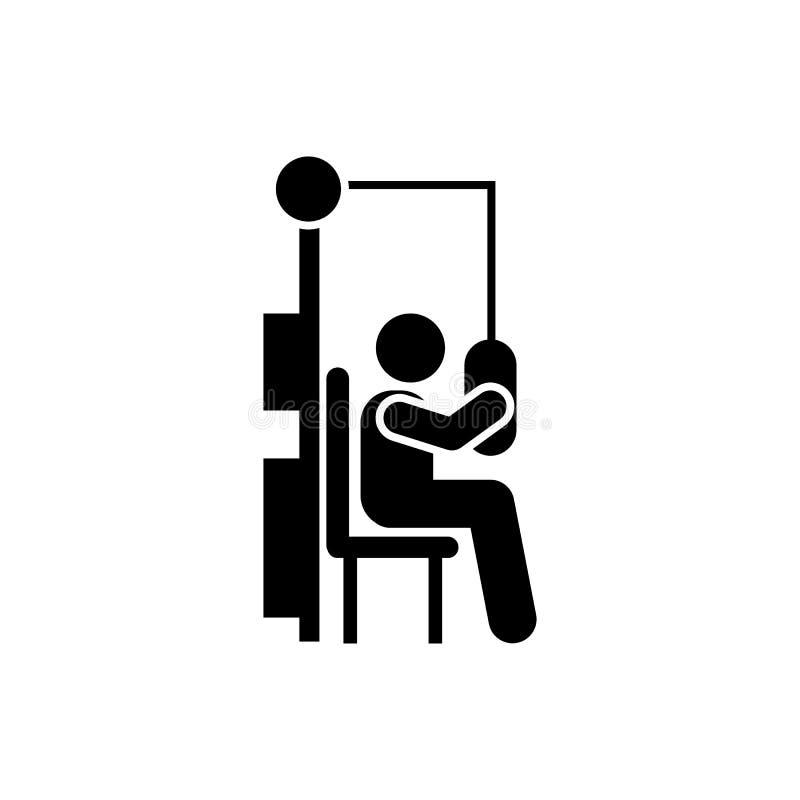 Sprawność fizyczna, gym mężczyzna, ćwiczenie, dostrzega ikonę Element gym piktogram Premii ilo?ci graficznego projekta ikona podp royalty ilustracja