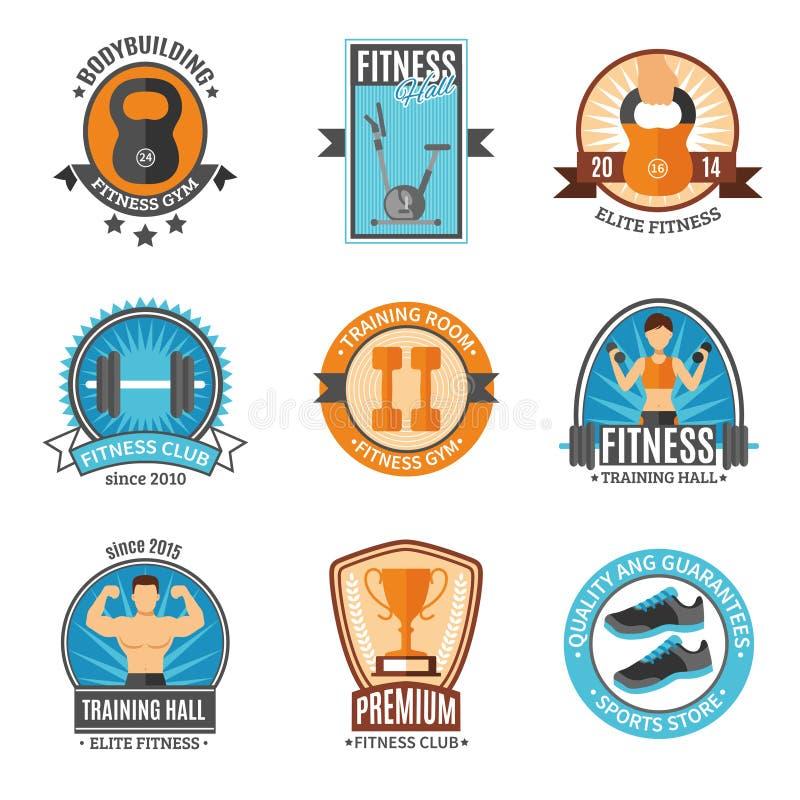 Sprawność fizyczna I Gym Świetlicowe odznaki ilustracja wektor