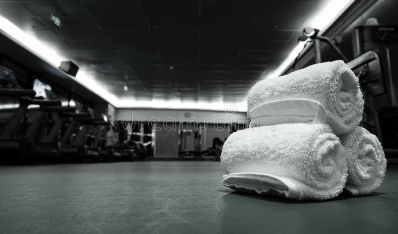 Sprawność fizyczna klub w luksusowym hotelu obraz stock