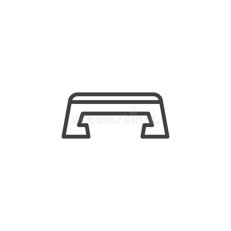 Sprawność fizyczna kroka konturu ikona royalty ilustracja