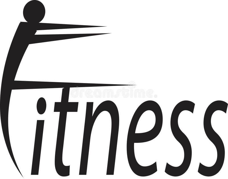 sprawność fizyczna logo ilustracja wektor