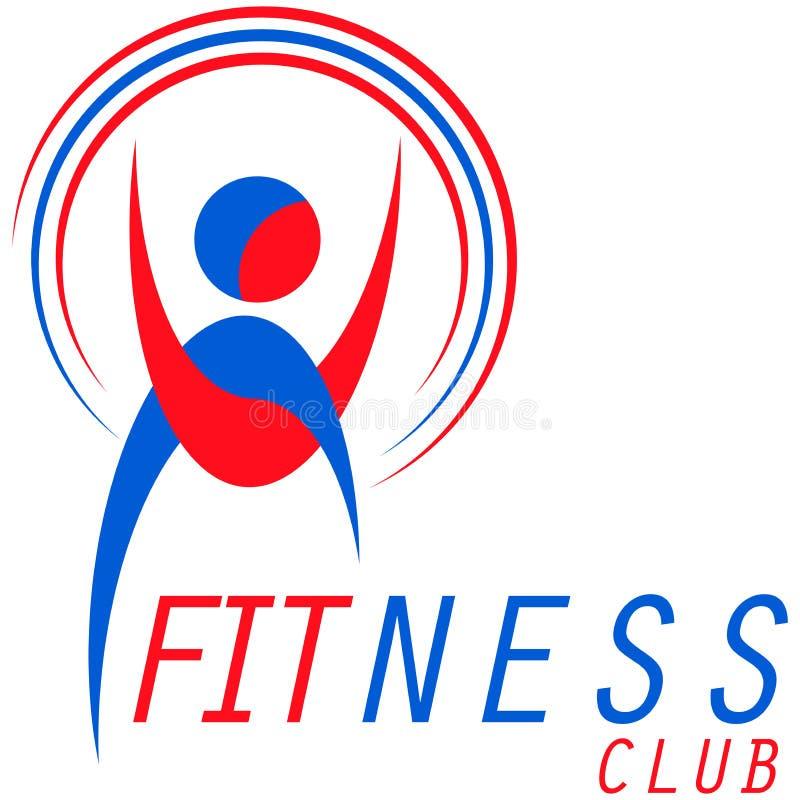 Sprawność fizyczna logo royalty ilustracja
