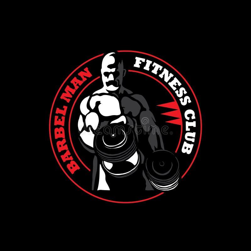 Sprawność fizyczna logo obraz royalty free