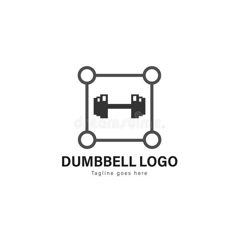 Sprawność fizyczna logo szablonu projekt Sprawność fizyczna logo z nowożytną ramą odizolowywającą na białym tle ilustracji
