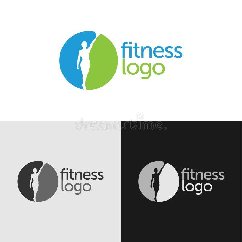 Sprawność fizyczna logo z negatyw przestrzenią royalty ilustracja