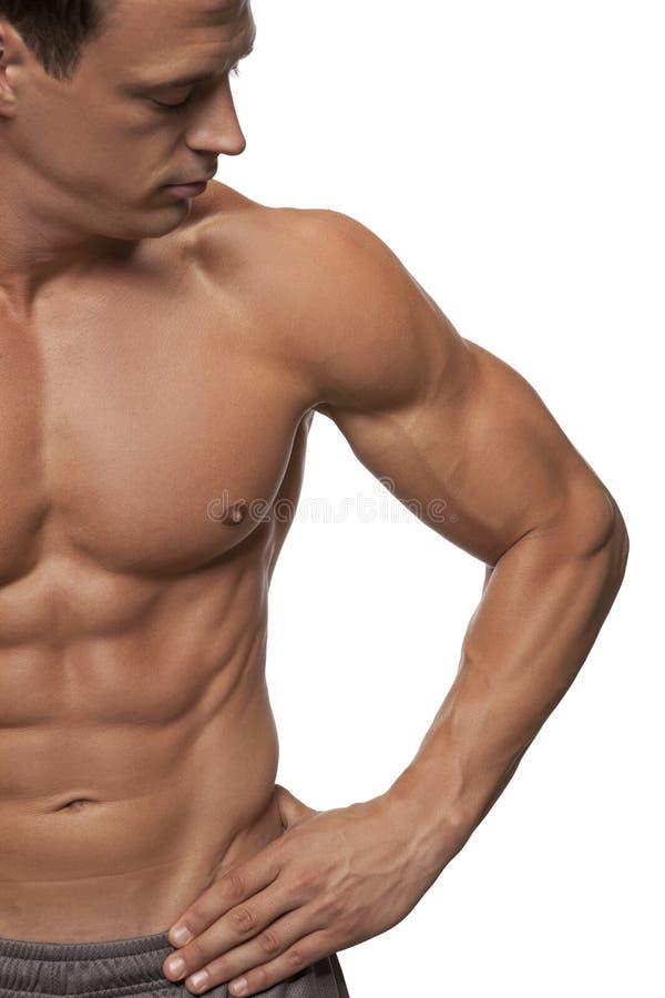 Sprawność fizyczna męski model zdjęcia royalty free