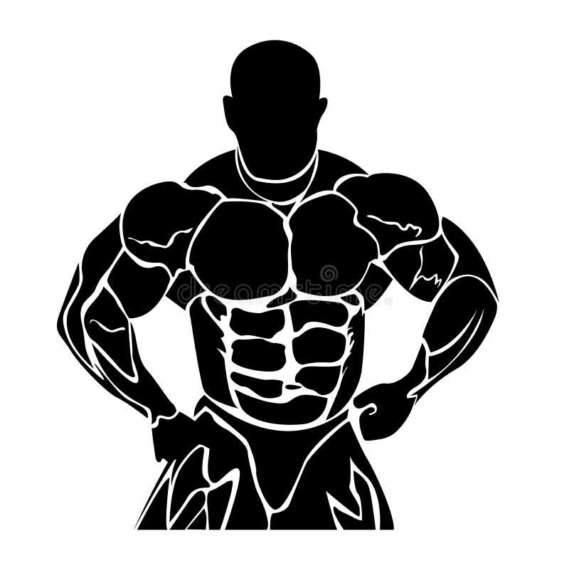 Sprawność fizyczna projekt, bodybuilding, wektorowa ilustracja royalty ilustracja