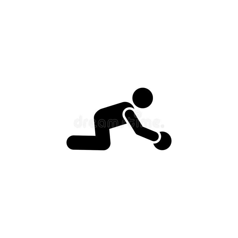 Sprawność fizyczna, szkolenie, gym, sport, mężczyzna ikona Element gym piktogram Premii ilo?ci graficznego projekta ikona podpisz ilustracja wektor