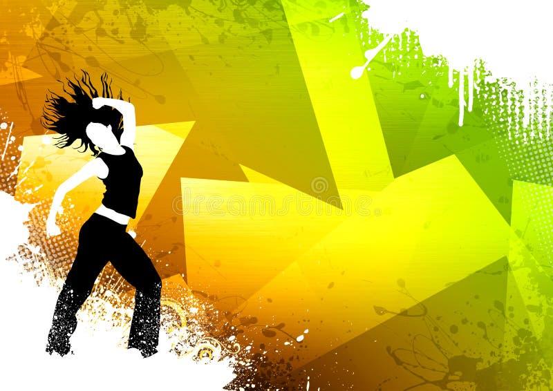 Sprawność fizyczna taniec ilustracji