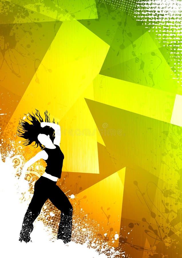 Sprawność fizyczna taniec ilustracja wektor