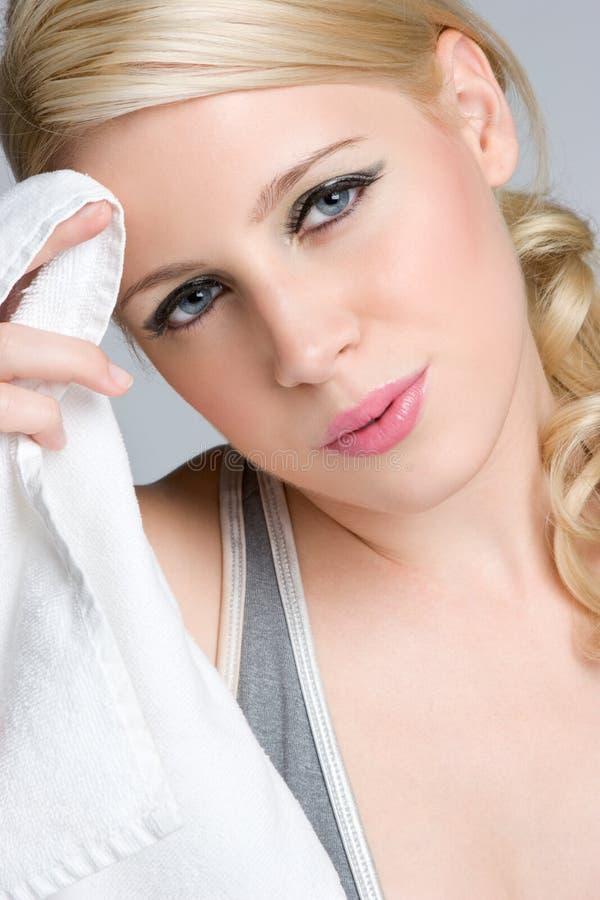 sprawności fizycznej blond dziewczyna zdjęcie royalty free