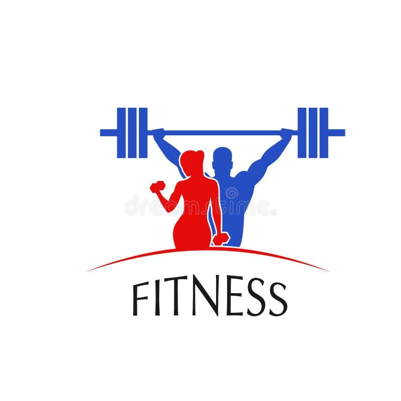 Sprawności fizycznej centrum logo ilustracji