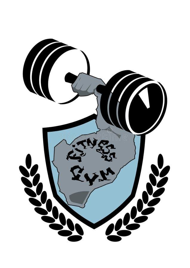 Sprawności fizycznej centrum symbolu sporta Nowożytny klub Lub Gym emblemata sylwetki Korporacyjny szablon royalty ilustracja