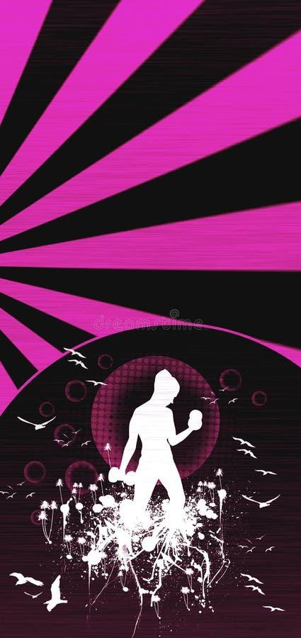 sprawności fizycznej dziewczyna ilustracja wektor