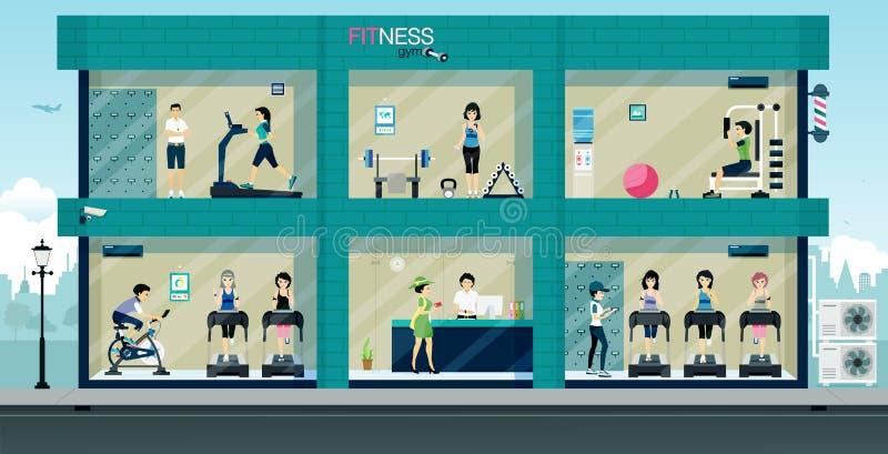 Sprawności fizycznej gym ilustracji