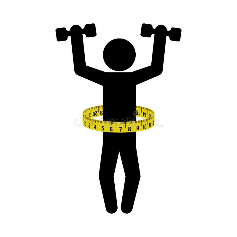 Sprawności fizycznej gym bodybuilding projekt ilustracji