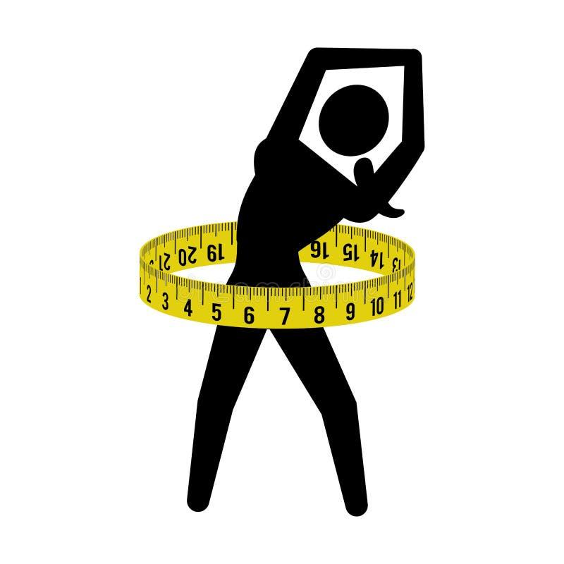 Sprawności fizycznej gym bodybuilding projekt ilustracja wektor