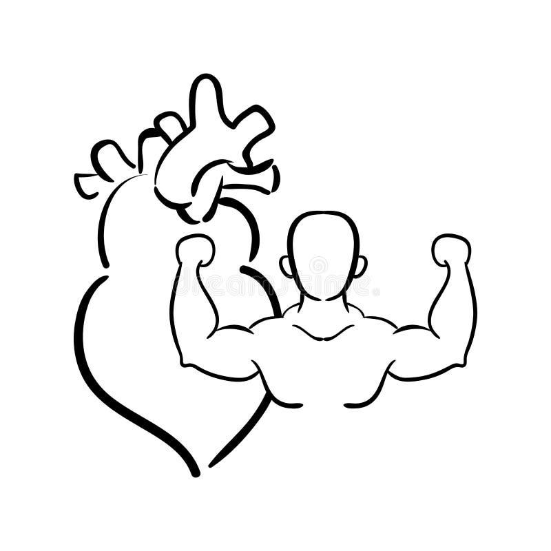 Sprawności fizycznej gym bodybuilding projekt royalty ilustracja