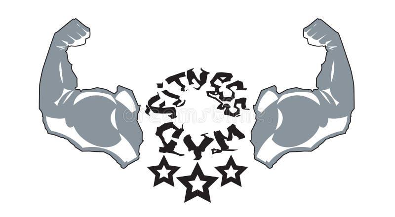 Sprawności fizycznej Gym loga sporta centrum ikony sylwetki Nowożytny szablon Odizolowywający Na Białym tle ilustracja wektor