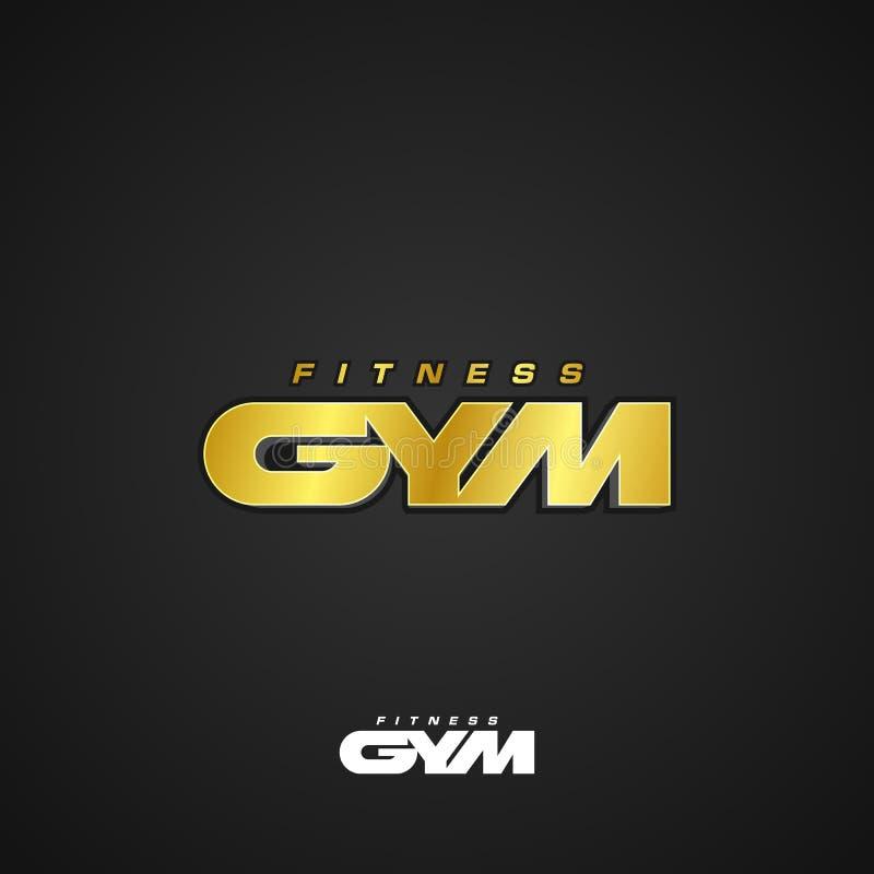 Sprawności fizycznej Gym logo ilustracja wektor