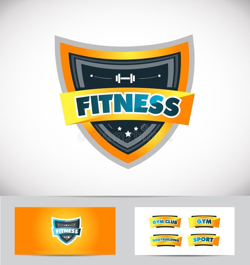 Sprawności fizycznej gym osłony loga ikony projekt royalty ilustracja