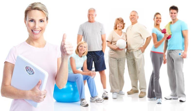 sprawności fizycznej gym zdrowy styl życia obraz stock