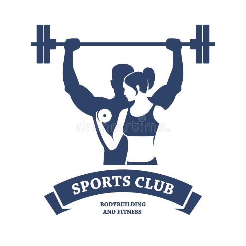 Sprawności fizycznej i Bodybuilding klub royalty ilustracja