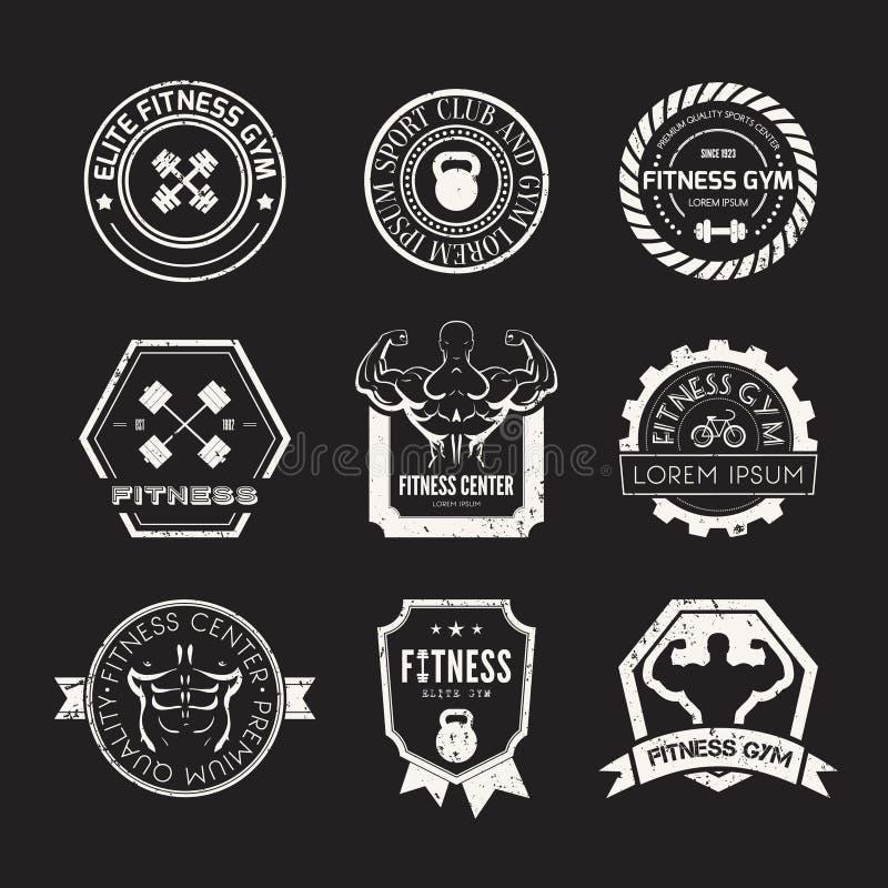 Sprawności fizycznej i sporta Gym logowie ilustracji