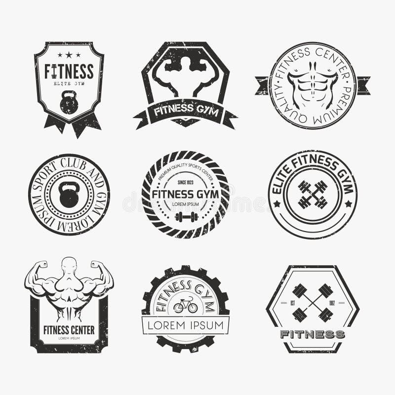 Sprawności fizycznej i sporta Gym logowie royalty ilustracja