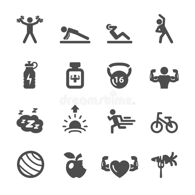 Sprawności fizycznej ikona ustawia 2, wektor eps10 ilustracja wektor